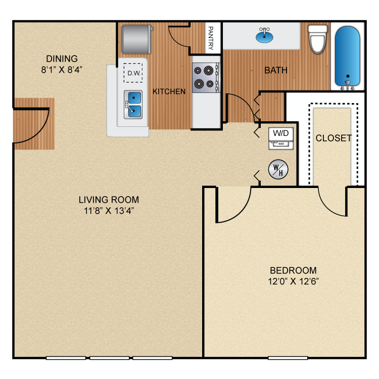 Floor plan image of A2 Basildon