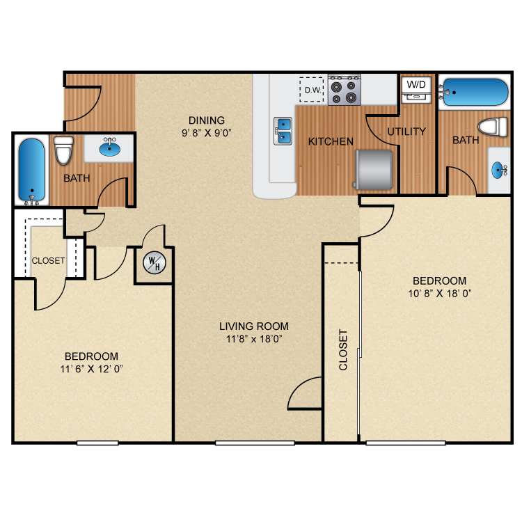 Floor plan image of B2 Chelmsford