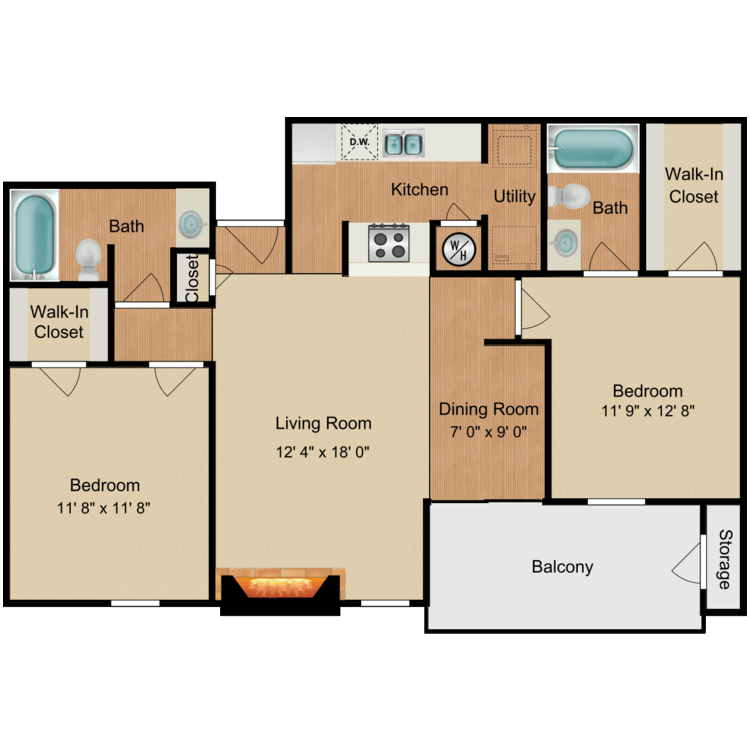 Floor plan image of Apricot