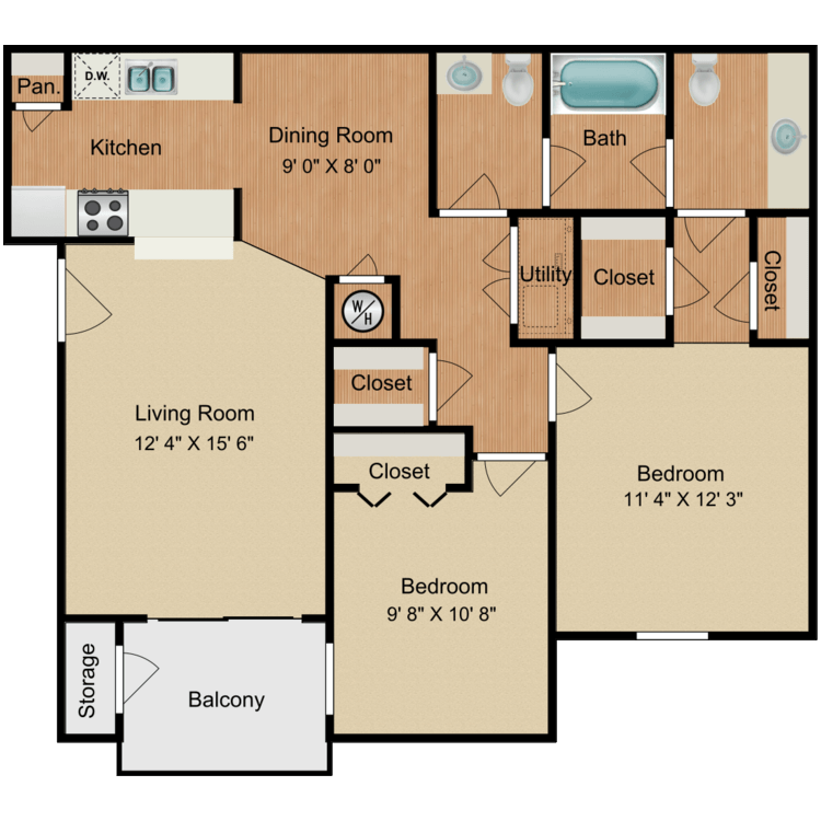 Floor plan image of Dove