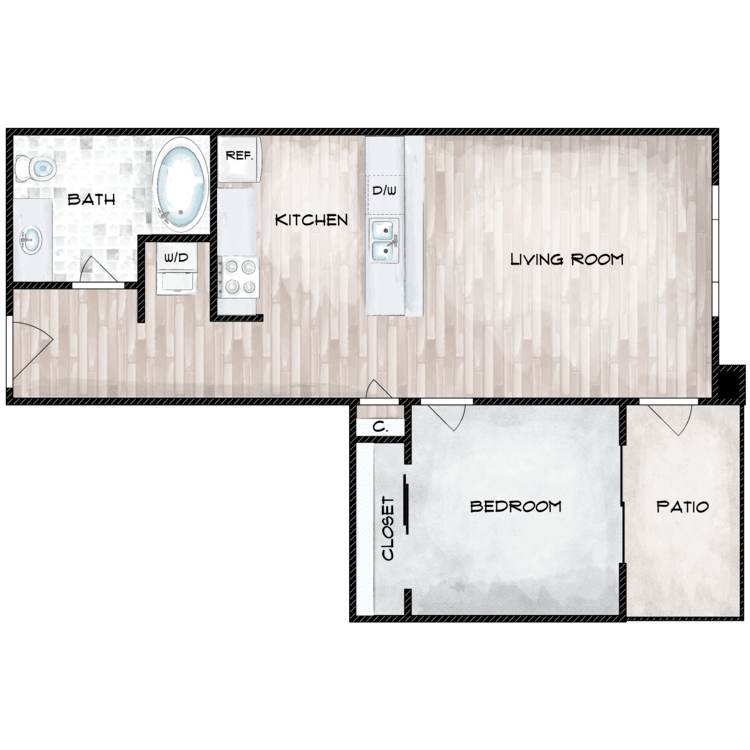 Floor plan image of The Bristlecone