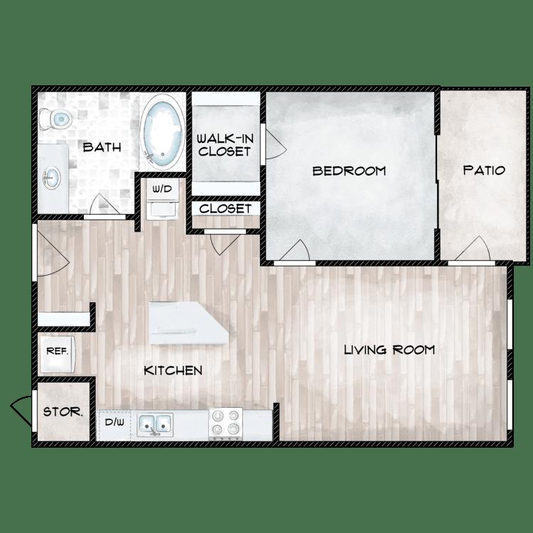 Floor plan image of The Ponderosa