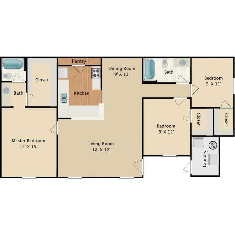 Floor plan image of Pinetop