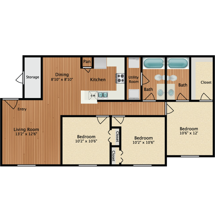 Floor plan image of Blue Heron