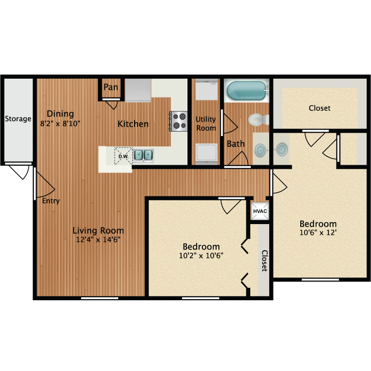 Floor plan image of Egret
