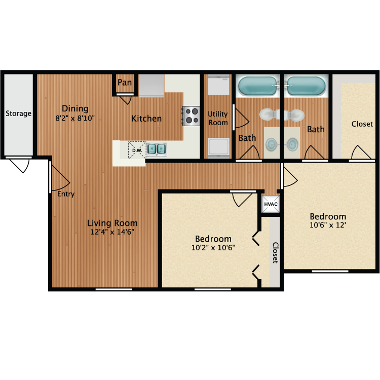 Floor plan image of Ibis
