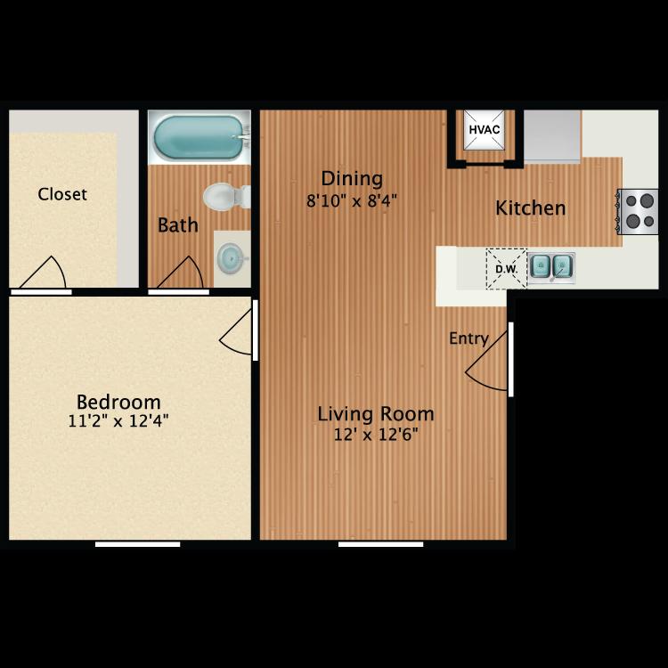 furnish this floor plan - Flooring Plan