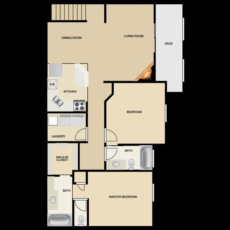 Floor plan image of Mission San Diego II & III