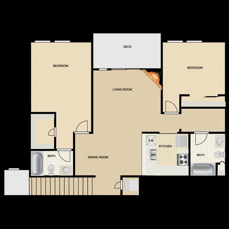 Floor plan image of Mission San Jose I & II