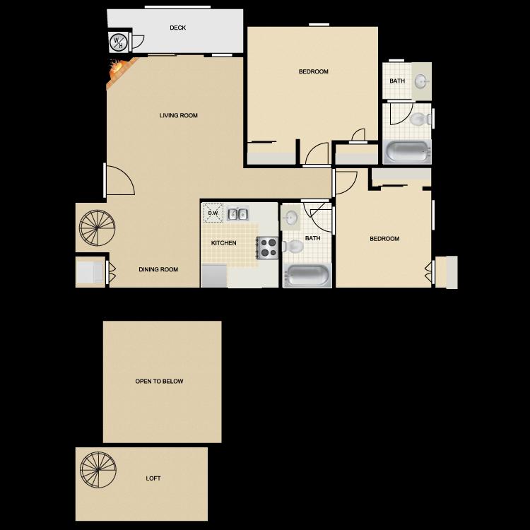 Floor plan image of Mission Santa Cruz III