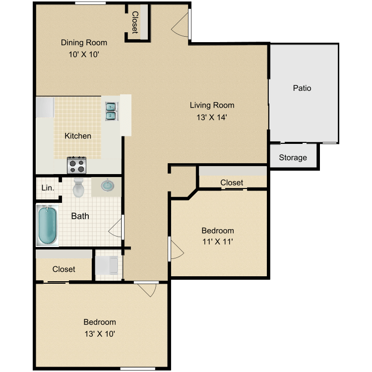 Floor plan image of The Aspen