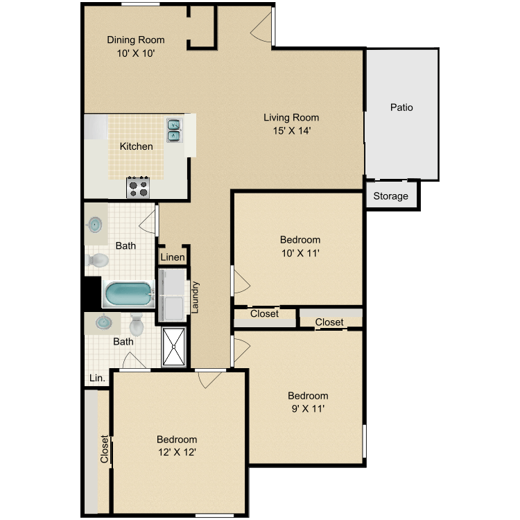 Floor plan image of The Sequoia