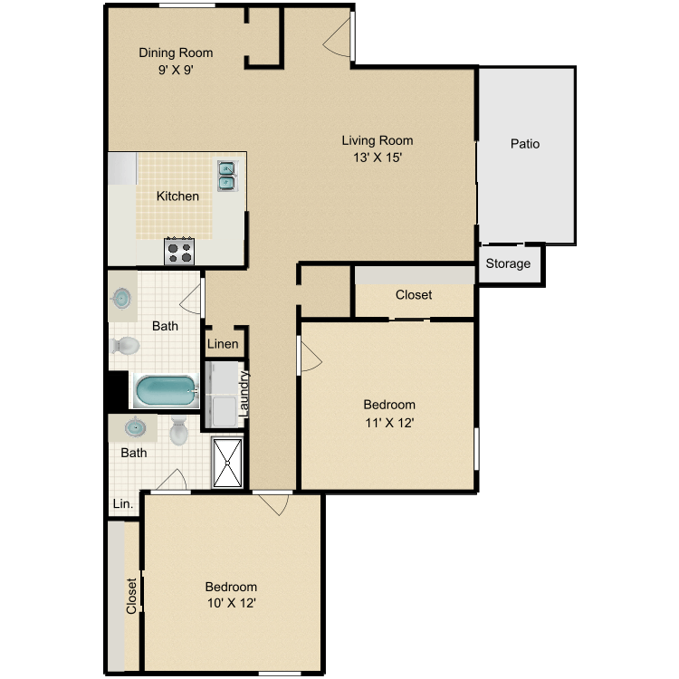 Floor plan image of The Willow