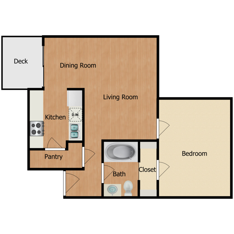 Floor plan image of Parker at the Cottages