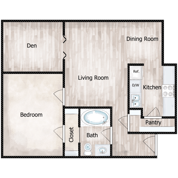 Floor plan image of Sofie at the Cottages