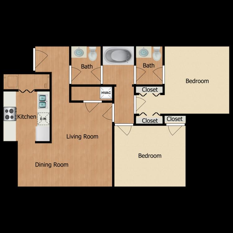 Floor plan image of Kyler at the Cottages