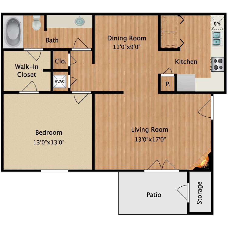 Floor plan image of Bentley