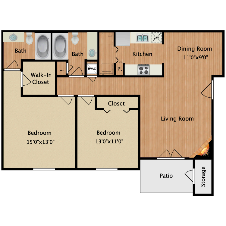 Floor plan image of Channing
