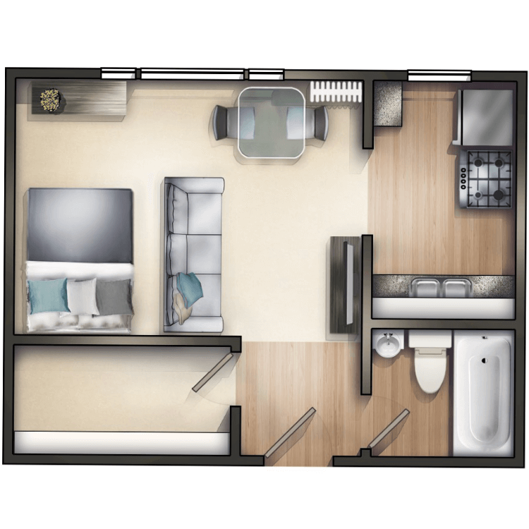 Floor plan image of Studio B