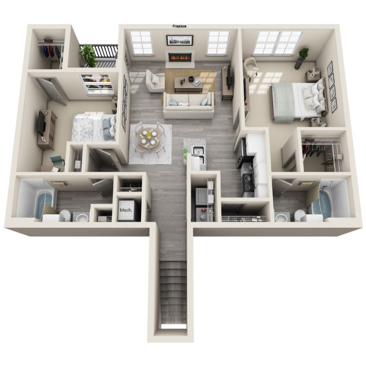 Floor plan image of Dogwood Upper