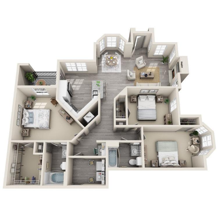 Floor plan image of White Oak Lower