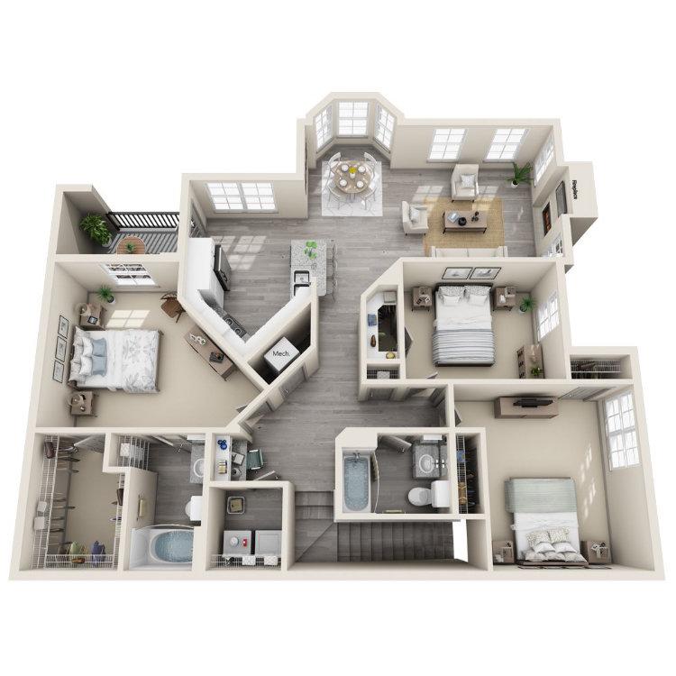 Floor plan image of White Oak Upper