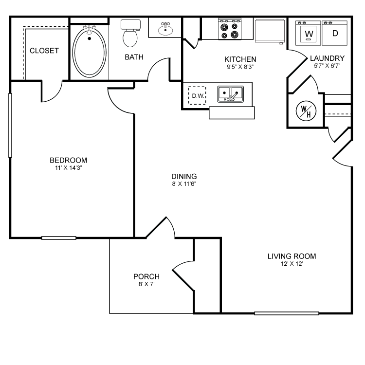 Floor plan image of Pine