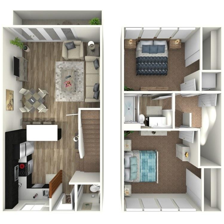 Floor plan image of Plan B Townhome