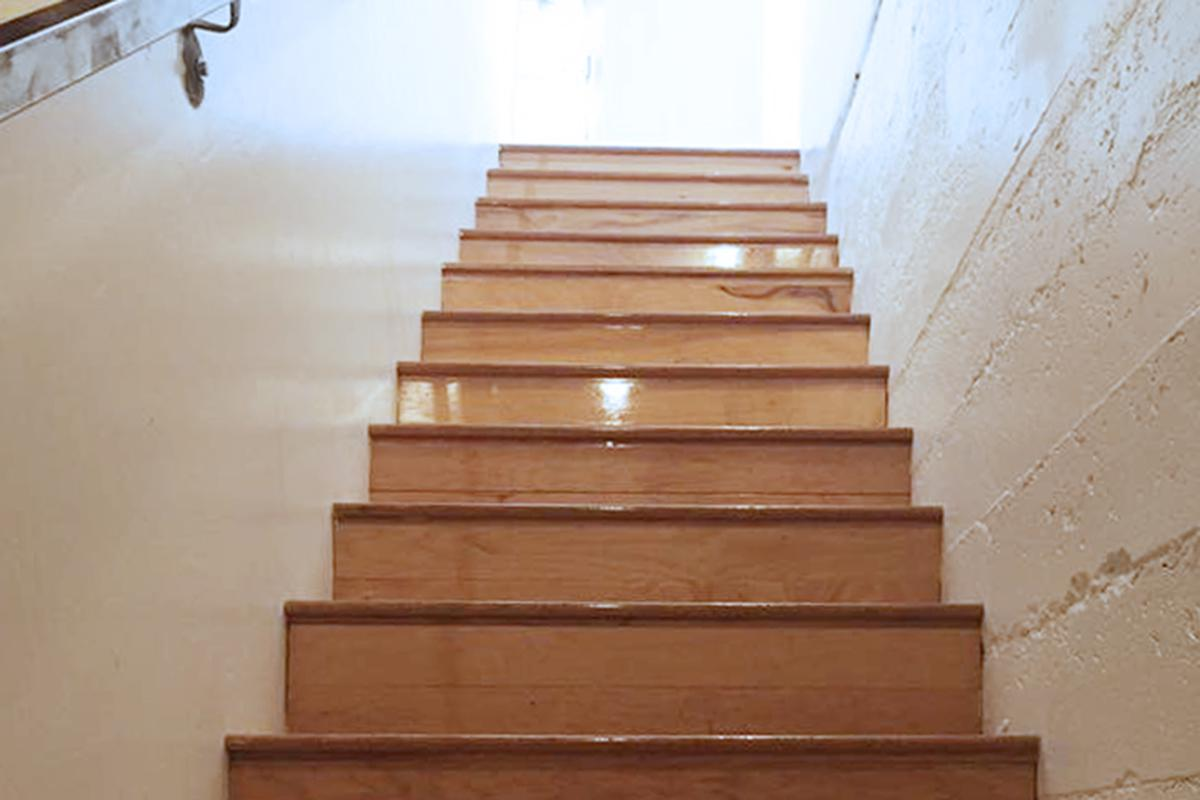 a set of stairs