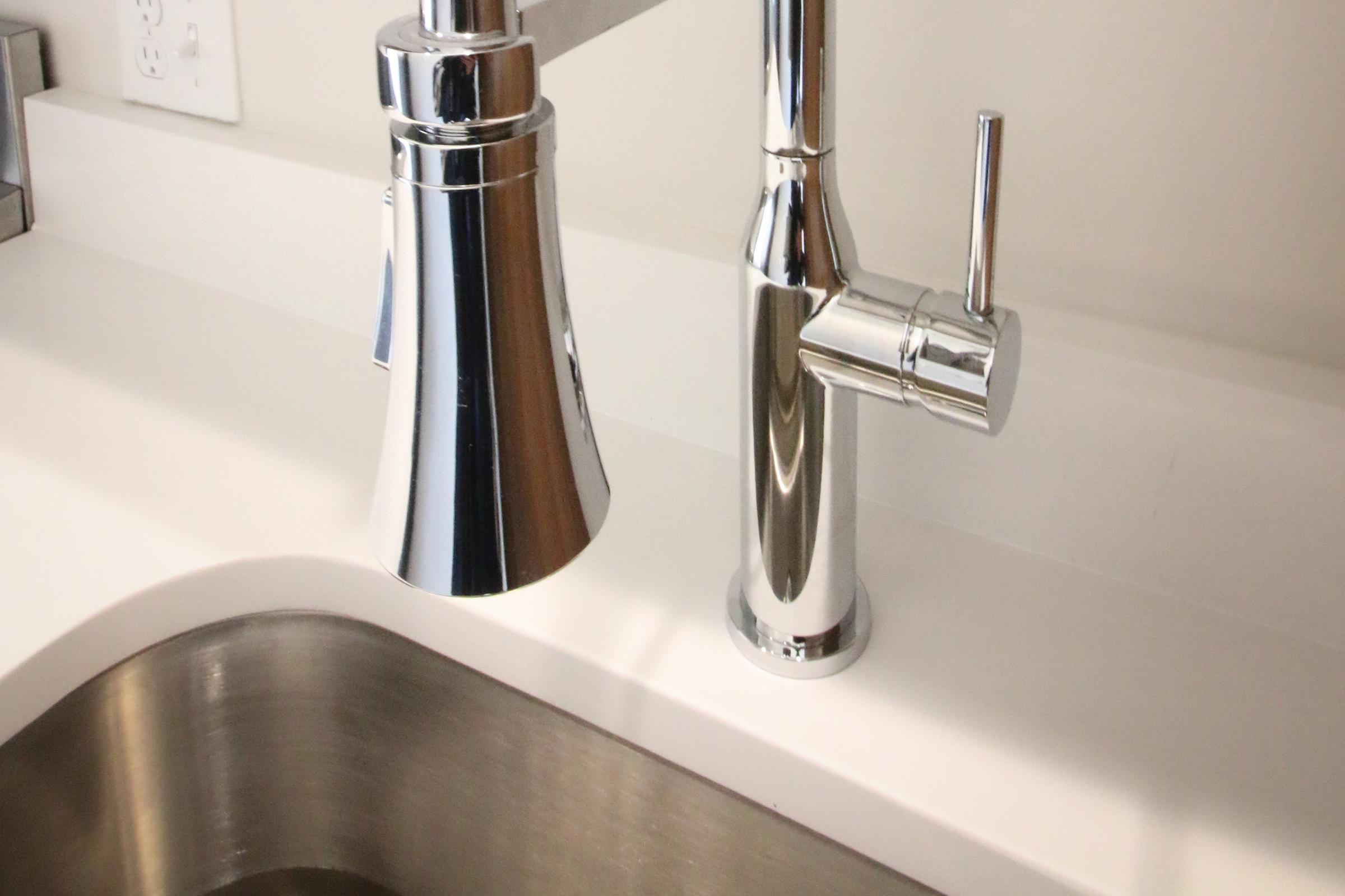 a stainless steel sink