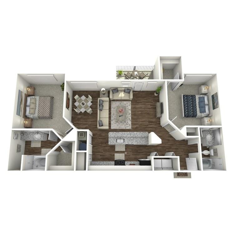 Floor plan image of The Topaz II