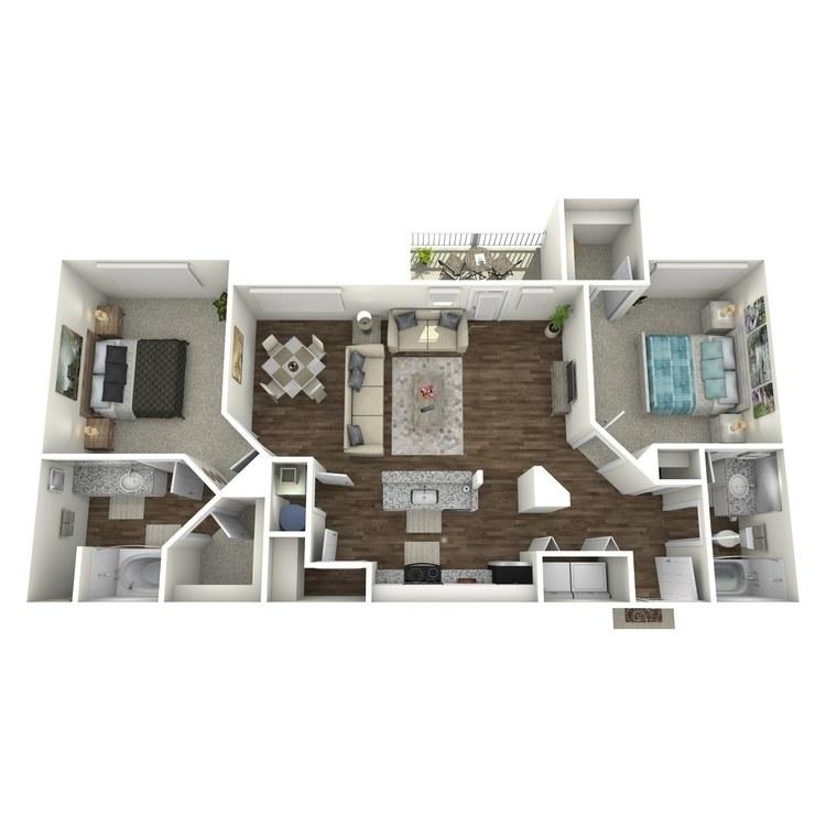 Floor plan image of The Topaz