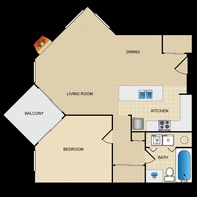 Floor plan image of Apple