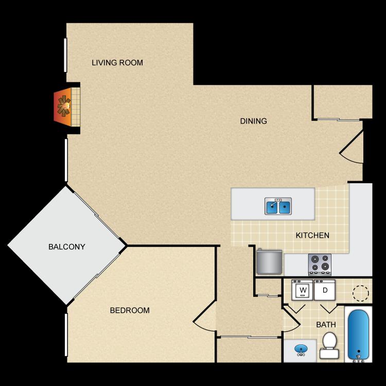 Floor plan image of Cherry