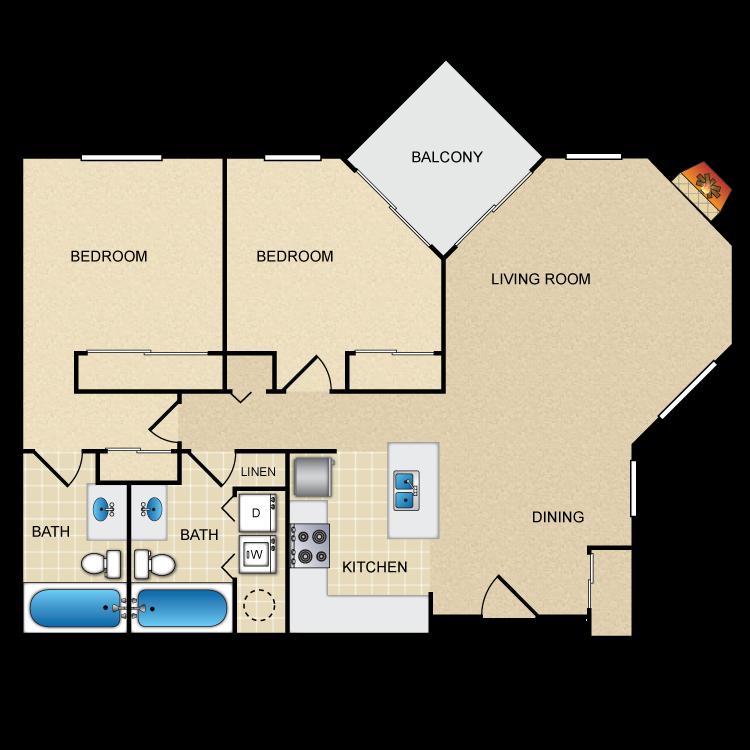 Floor plan image of Pear