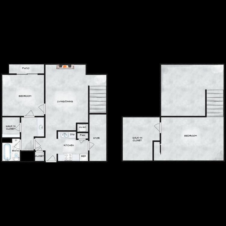 Floor plan image of 1x1 Loft