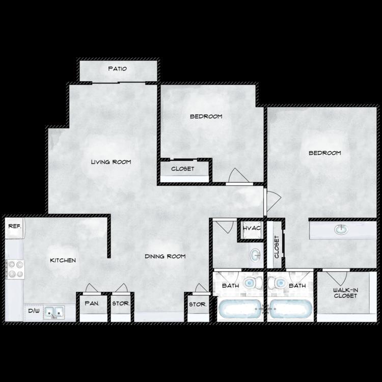 Floor plan image of 1010