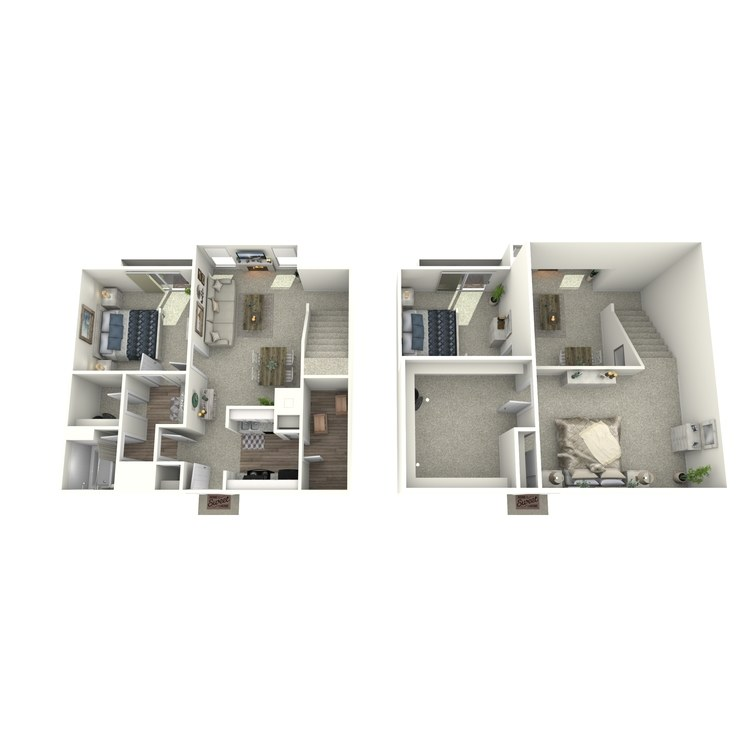 1x1 Loft floor plan image