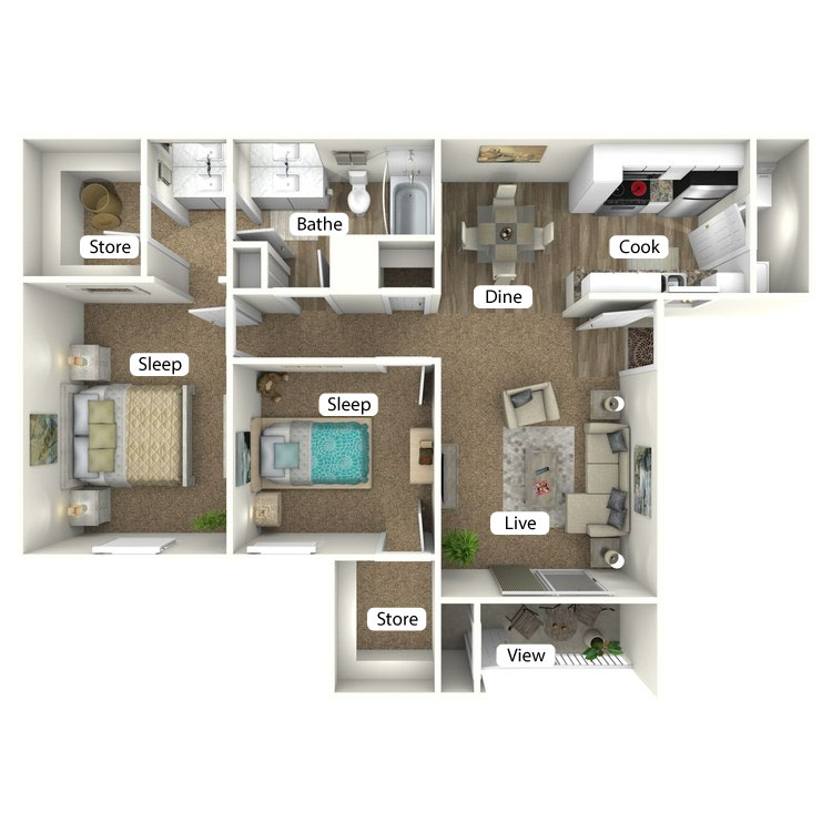 Floor plan image of The Cabin