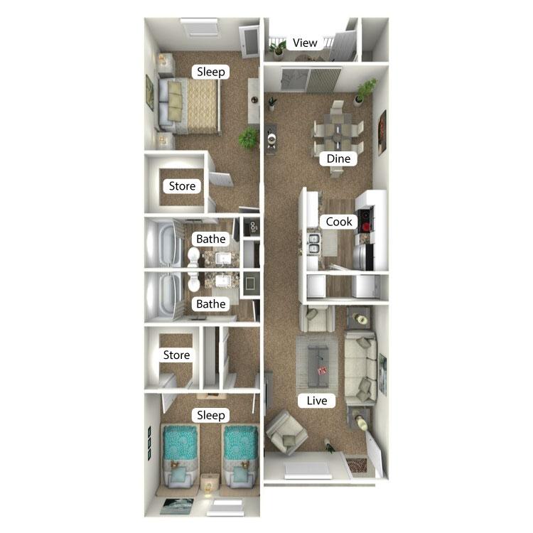 Floor plan image of The Lodge