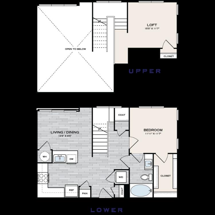 Floor plan image of A2 Loft