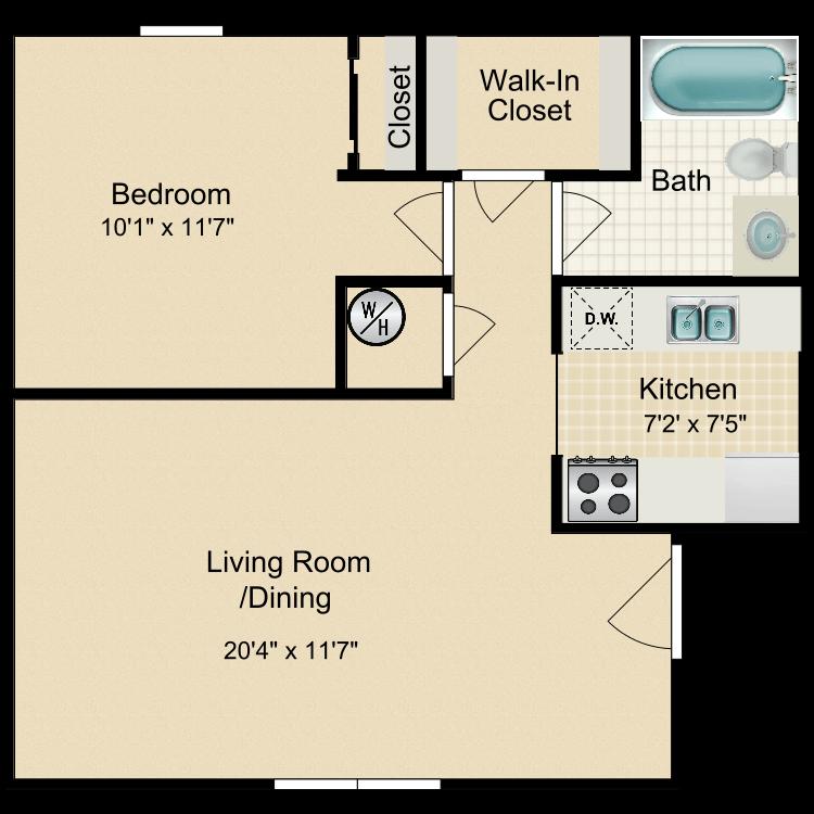 Floor plan image of A1 Garden Apartment