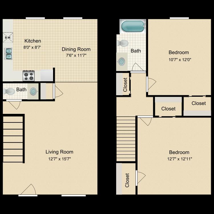 Floor plan image of B2 Townhouse
