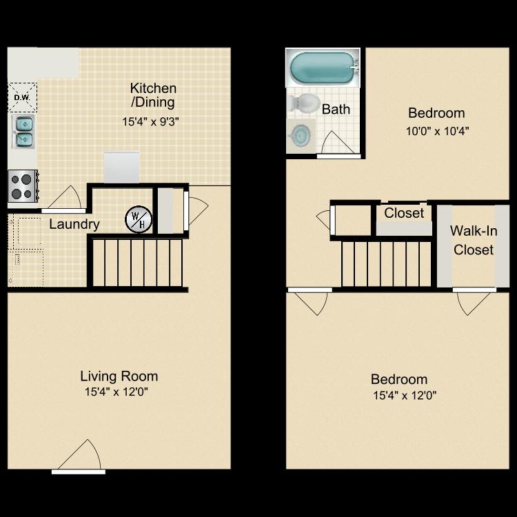 Floor plan image of B1 Townhouse