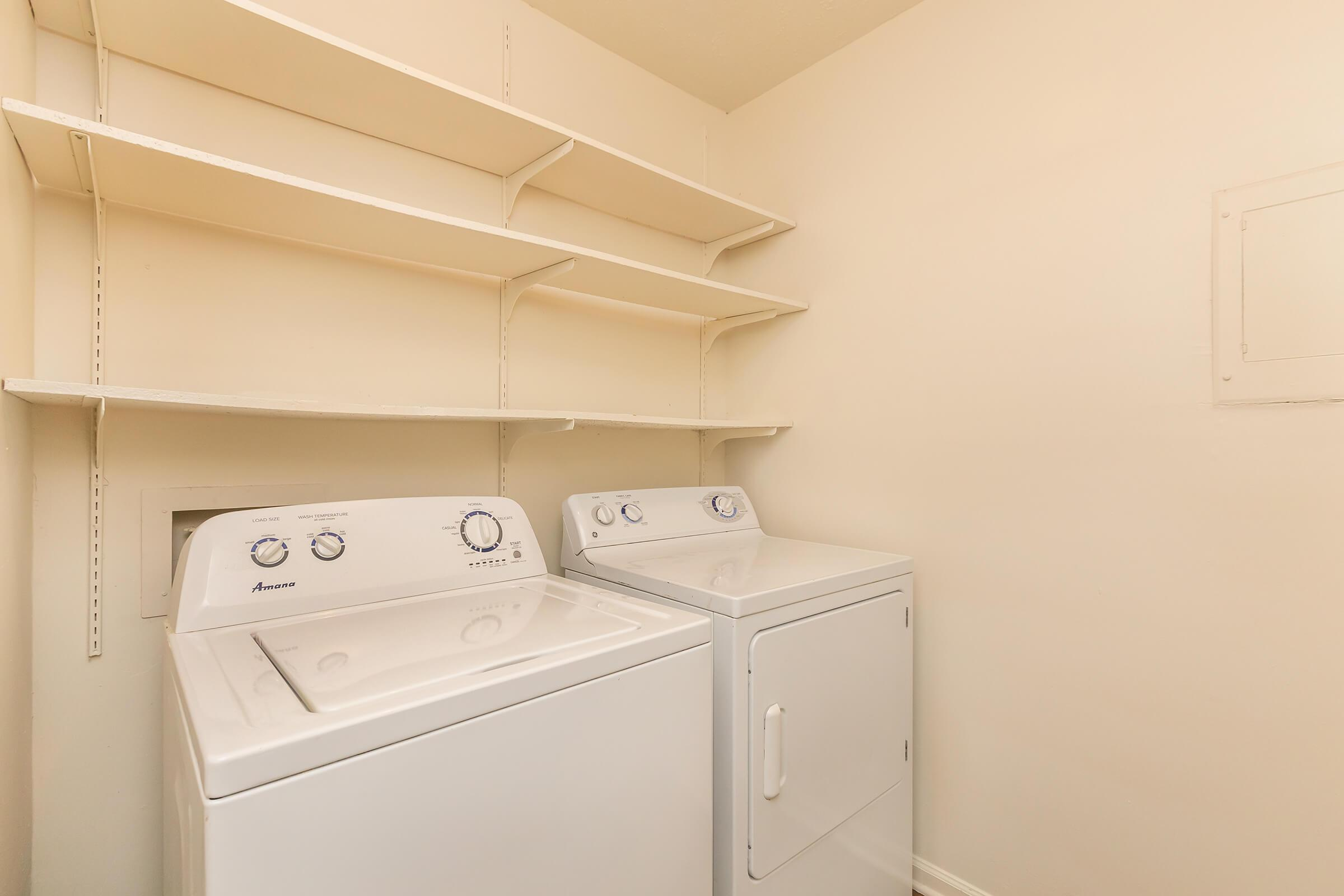 IN-HOME WASHER AND DRYER AT UNIVERSITY VILLAGE AT WALKER ROAD