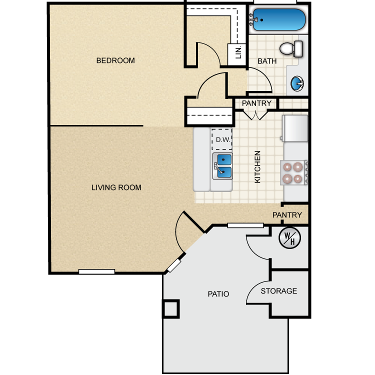 The Aspen floor plan image