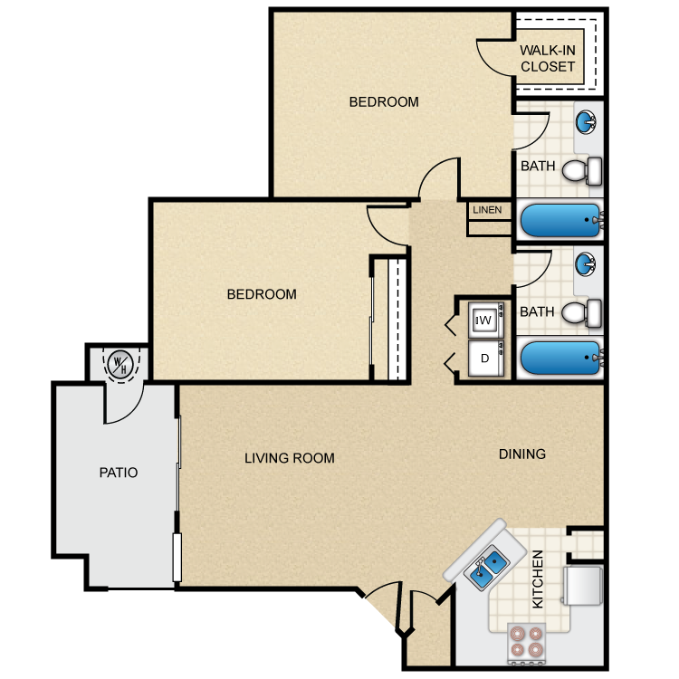The Chestnut floor plan image