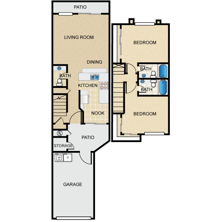 The Elm floor plan image