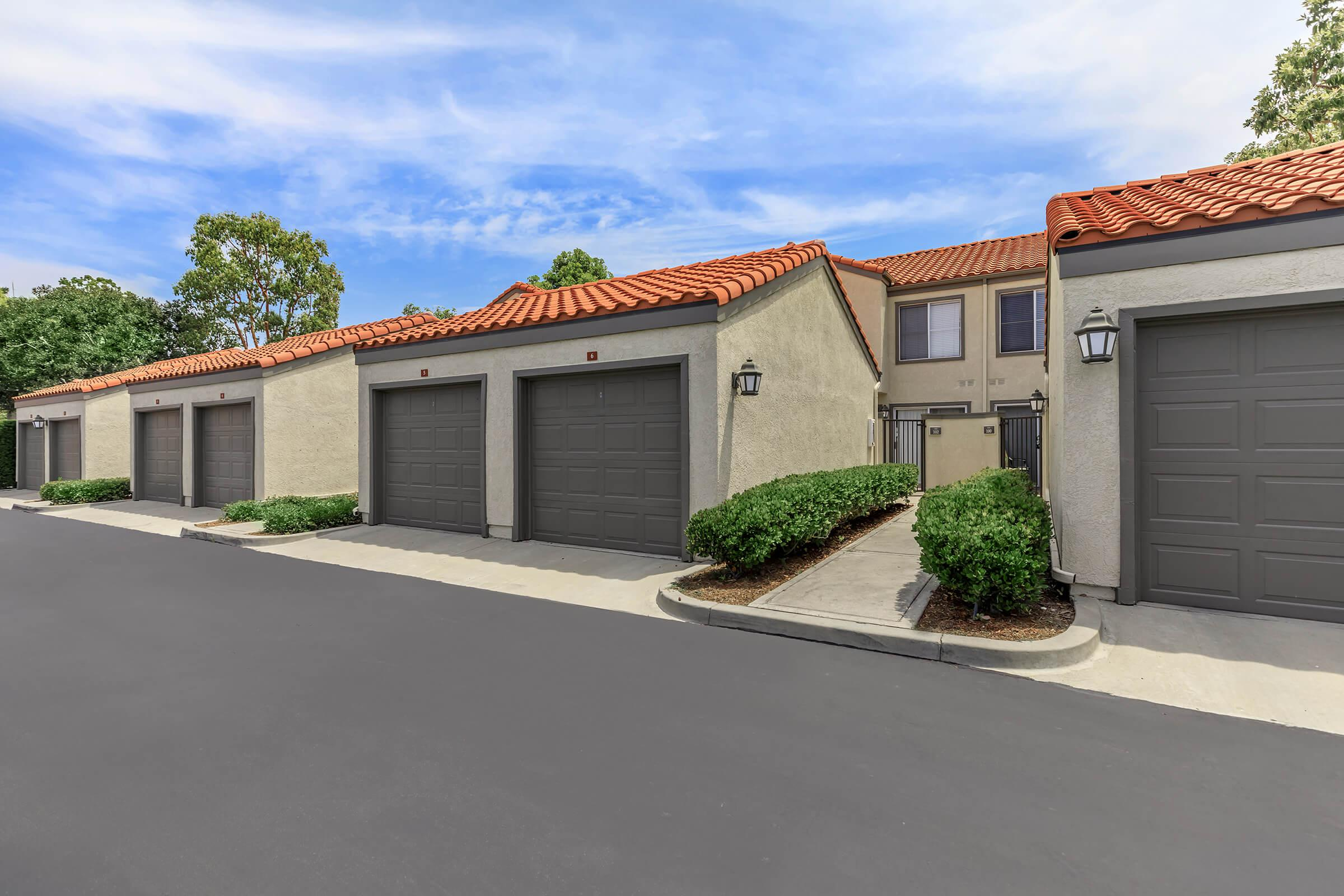Sycamore Canyon Apartments garages with gray doors