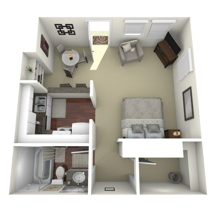 Floor plan image of Efficiency B